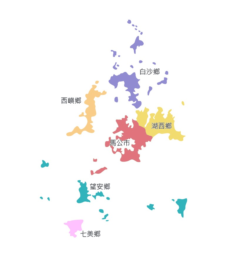澎湖行政区分図