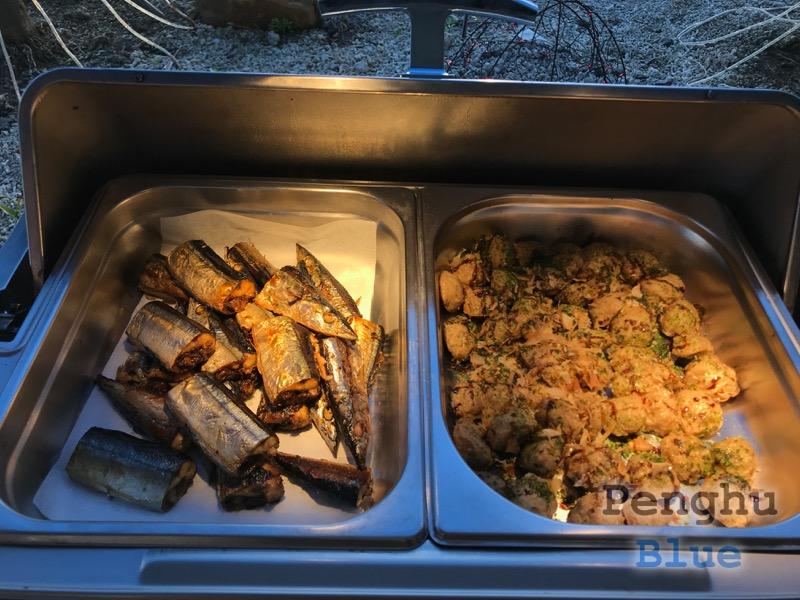 炭焼き秋刀魚と香菇貢丸