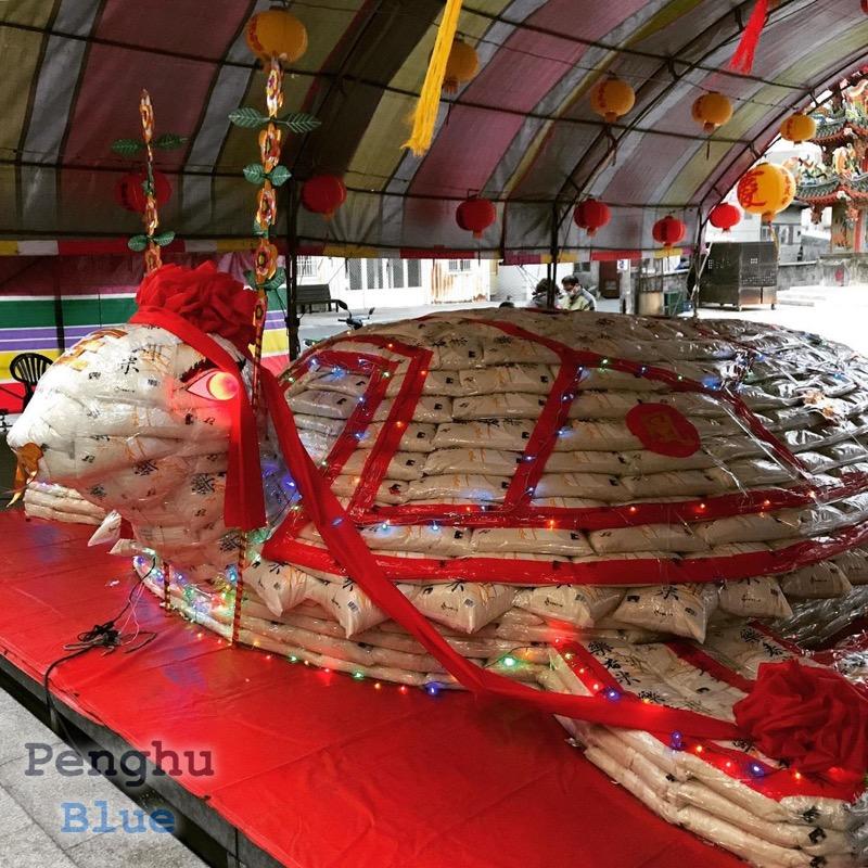 13.2トンの米袋で作った乞亀